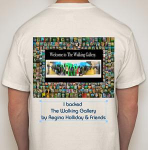 The Walking Gallery T-Shirt - Back on ecrue