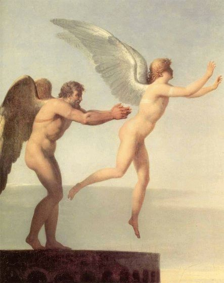 Icarus and Daedalus by Charles Paul Landon, 1799